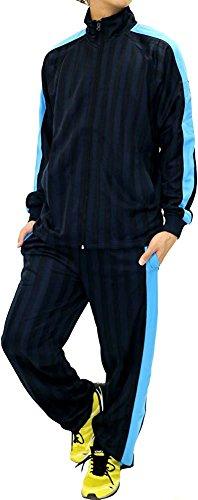 Skkone Men's Tracksuit Track Jacket and Pants 2 Piece Set (Medium, Navy/Blue)