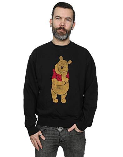 Disney Men's Winnie The Pooh Classic Pooh Sweatshirt Black XX-Large