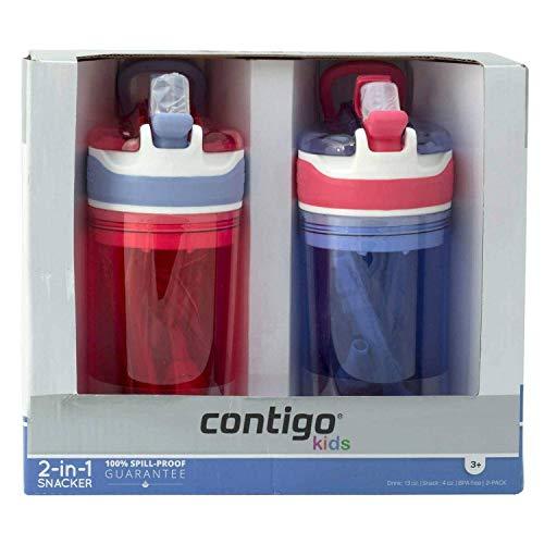 ConntigoKids Spill Proof Water Bottle, Very Convenient 2-in-