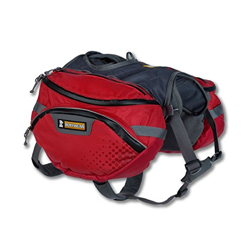 RUFFWEAR - Palisades Multi-Day Backcountry Pack for Dogs, Red Currant, Large/X-Large ()