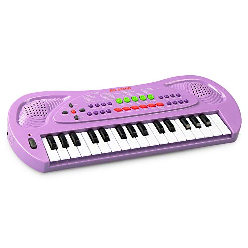 SAOCOOL Piano for Kids, 32 Keys Multifunction Electronic Kids Piano and The Best Gift for Children (Purple)