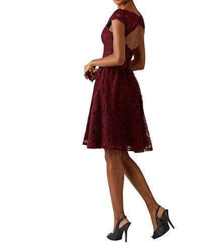 Partykleider Fuchsia mia Dunkel Festlichkleider Jugendweie Cocktailkleider La Spitze Kleider Mini Kurzes Brau Abendkleider 0c7HO