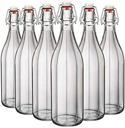 Pack de 6 botellas de cristal de agua que abastecen con Swing Vintage Tops de Bormioli Rocco,Vintage