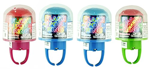 Kidsmania Flash Pop Ring, Candy Lollipop Ring, 4 Pack (Sucker Rings)
