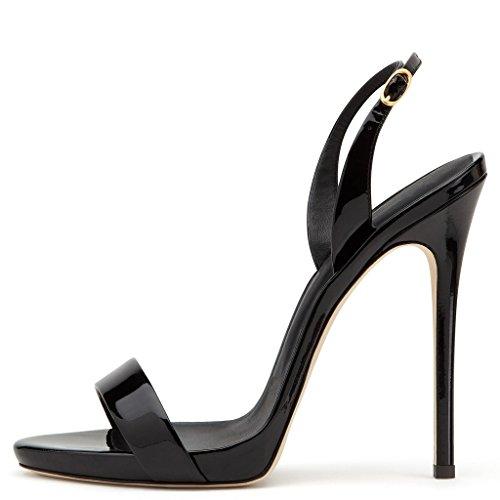 Amy Q - Zapatos con correa de tobillo mujer negro