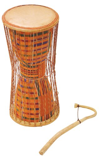 - Jamtown J014I African Talking Drum with Mallet