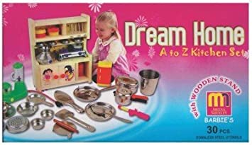 Buy Sunshine Wooden And Stainless Steel Kitchen Set With Playing