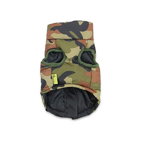 DroolingDog Dog Winter Jacket Camo Waterproof Coat Dog Camouflage Clothes for Small Dogs, Large, Green 3