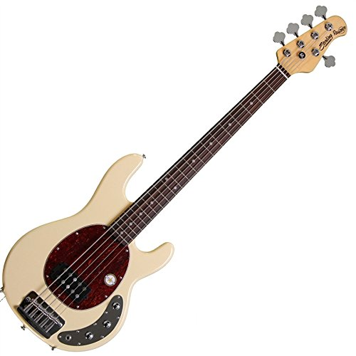Sterling by Music Man Ray35CA 5-String Electric Bass Guitar (Vintage Cream, Rosewood Fingerboard)
