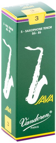 Vandoren SR273 Tenor Sax JAVA Reeds Strength 3; Box of 5
