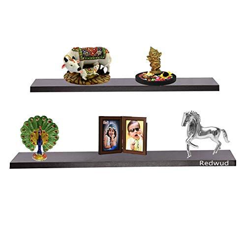 Redwud Lyla Wall Decor Shelf/Wooden Shelves/Display Rack  Wenge