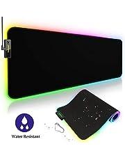 Tronsmart Spire Gaming Mauspad RGB, Wasserdicht 800x 300x 4mm XXL, Bright Effekt LED Schreibtisch Pad, Rutschfeste USB Hintergrundbeleuchtung Gaming Matte für Computer, PC und Professionelle Gamer