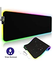 Tronsmart Spire Gaming Mauspad RGB, Wasserdicht 800x 300x 4mm XXL Mouse Mat, Bright Effekt LED Mousepad, Rutschfeste USB Hintergrundbeleuchtung Gaming Matte für Computer, PC und Professionelle Gamer