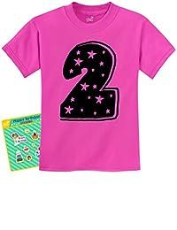 TeeStars - I'm 2 - Two Years Old Cute Birthday Gift Idea Unisex Kids T-Shirt