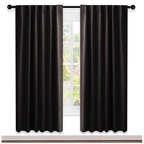 NICETOWN Insulated Curtains Room Darkening Drapery Panels - (Toffee Brown Color) 52
