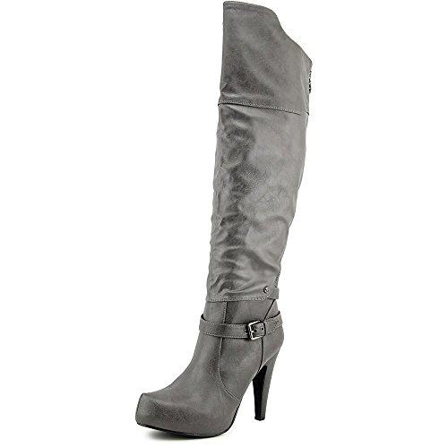 GUESS Trinna Fashion Knee Closed High Boots Toe Gray Womens rS1wq5nZr