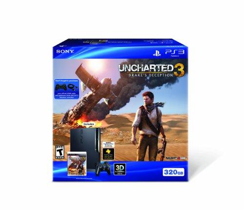 Amazon Com Ps3 320gb Uncharted 3 Bundle Video Games