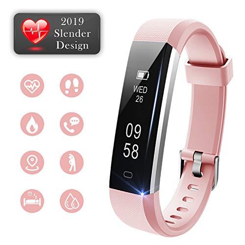 Lintelek Fitness Tracker with Heart Rate Monitor, Slim Pedometer Watch with Sleep Monitor, IP67 Waterproof Sports Activity Fitness Smart Watch for Women Men Kids