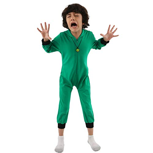 KN Halloween Child Girls Boys The Grinch Jumpsuits Green]()