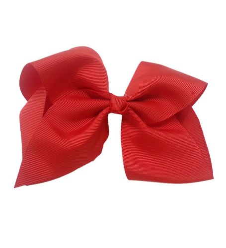 Pink Big Bow - Red Grosgrain Bow Clip - Extra Large Bows with Alligator Clips by CoverYourHair