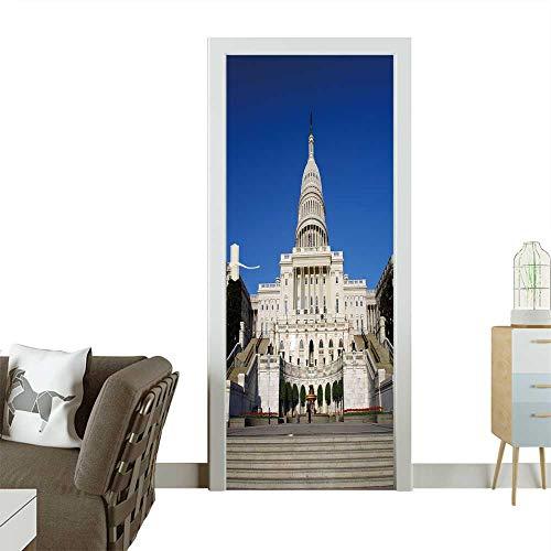Homesonne 3D Door Decals US Capitol Self Adhesive Door Decal W36 x H79 INCH -