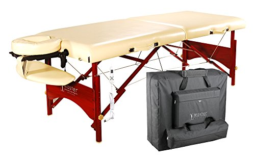 Master Massage Caribbean Deluxe Therma-Top Massage Table Package, Cream, Memory Foam