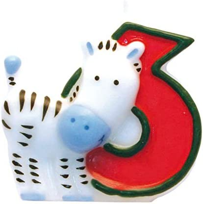 Bougie Chiffre 6 Safari 551796 amscan