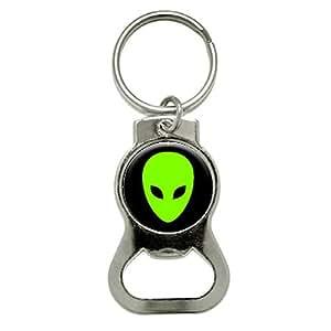 Graphics and More Alien Head Bottle Cap Opener Keychain (KB0068)