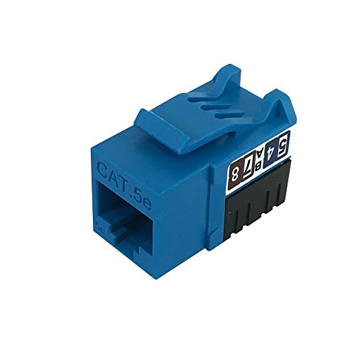 RJ45 Cat6 Slim Profile Jack, 110 Punch-Down - - Jack Cable Cat6 Bl