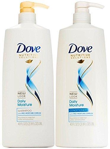 Moisture Shampoo Conditioner - Dove Nutritive Solutions Daily Moisture, Shampoo and Conditioner Duo Set, 40 Ounce Pump Bottles