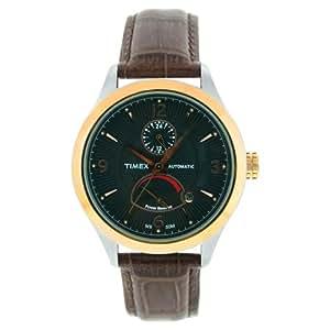 Timex Automatic T2M980 - Reloj de caballero de cuarzo, correa de piel color marrón