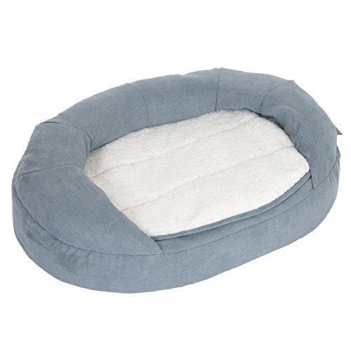 Memory Foam Dog Bed Gris de Perro Cama, y Transpirable Cama ortopédica de Espuma con Funda extraíble y Lavable. - Ideal para Perros o Perros Deportivos de ...