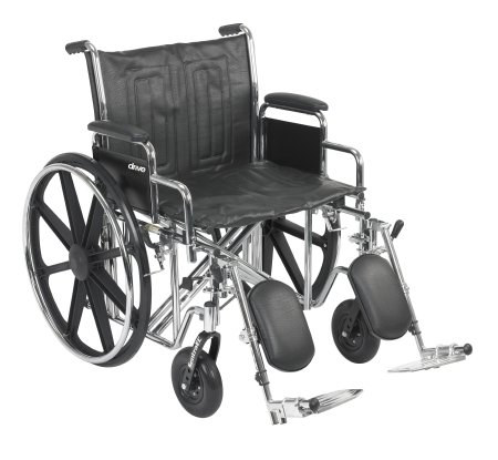 (McKesson Heavy-Duty Wheelchair with Swing Away Elevating Leg Rests - 22-Inch Seat Width - 1 Each / Each - 14674201)