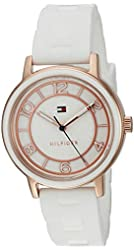 Tommy Hilfiger Women's Quartz Gold and Silicone Casual Watch, Color:White (Model: 1781670)