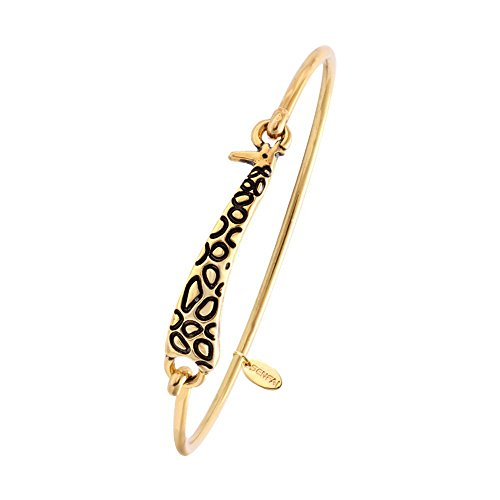 SENFAI Gold and Silver Color Female Lovely Cute Jewelry Giraffe Bangle Bracelet (Gold Color 2)