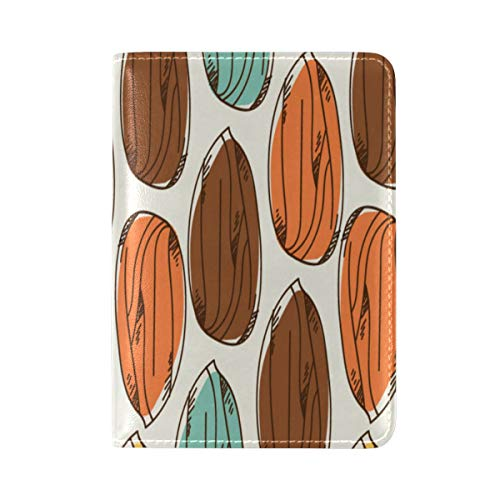 Passport Cover Case Almond Dried Fruit Casual Snack Ideas Leather&microfiber Multi Purpose Print Passport Holder Travel Wallet For Women And Men 5.51x3.94 In