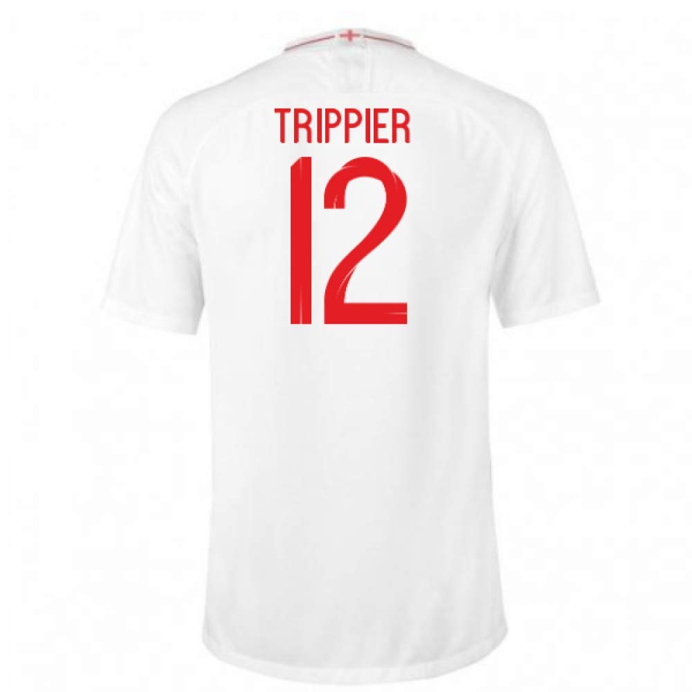 2018-2019 England Home Nike Football Soccer T-Shirt Trikot (Kieran Trippier 12) - Kids