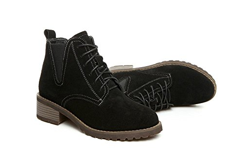 alla black velvet donna Scarpe tinta Martin unita pelle Bootie in BLACKVELVET stivali caviglia 35 35 vTxwPTt