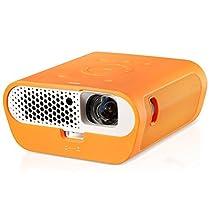 """BenQ GS1 Videoproiettore LED Portatile, USB e Bluetooth Integrati, Proiezioni di 60"""" a 1 Metro di Distanza, Contrasto Elevato di 100.000:1, HDMI per Divertirsi all'Aperto con la Famiglia"""