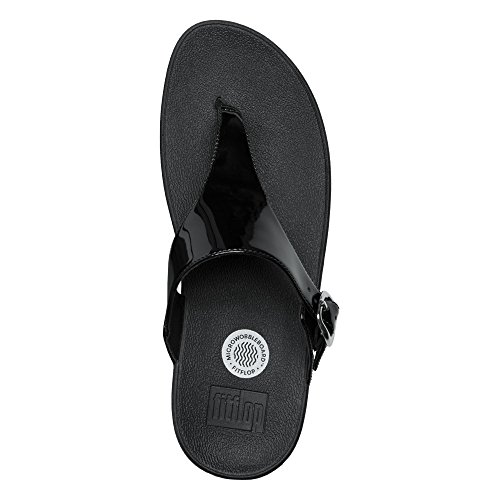 Fitflop the Skinny, Chanclas para Mujer All Black Patent