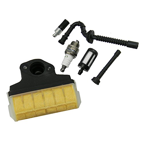 ark Plug + Fuel / Oil Line Filter for STIHL 021 023 025 MS210 MS230 MS250 Chainsaw ()