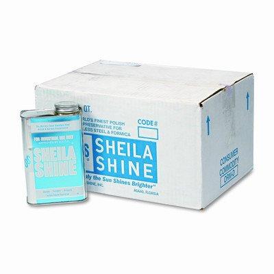 Sheila Shine Stainless Steel Cleaner & Polish, Quart, 12/Carton
