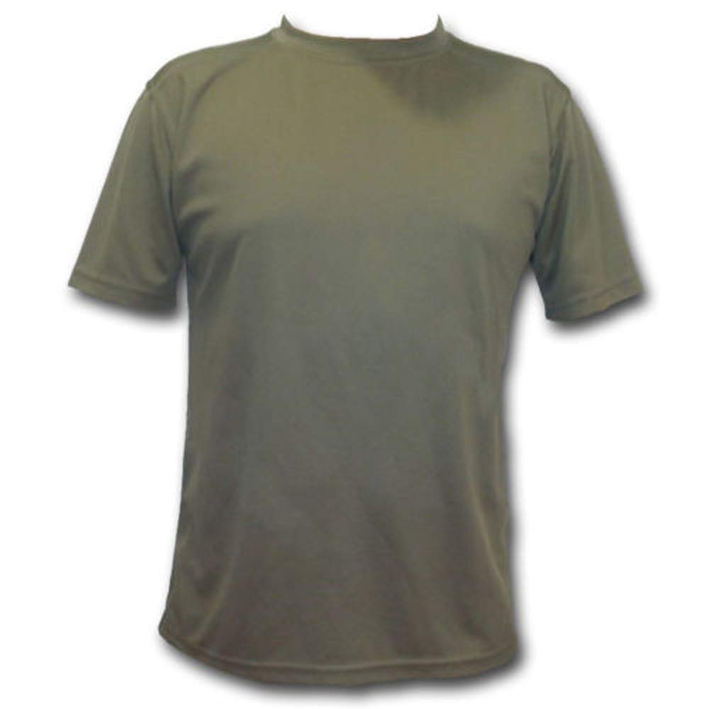 ee414ada British Army Issue Coolmax T-Shirt Olive Green: Amazon.co.uk: Clothing
