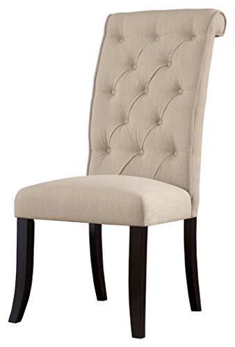 Ashley Furniture Signature Design - Tripton Dining Room Side Chair Set - Upholstered - Vintage Casual - Set of 2 - Linen by Signature Design by Ashley