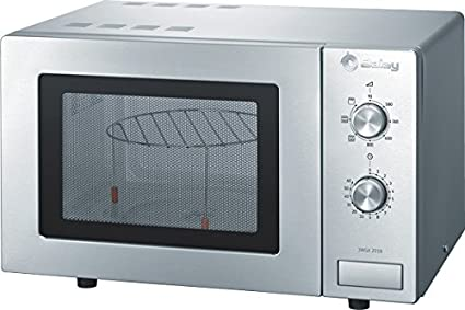 Balay 3WGX2018 - Microondas con grill, 800 W / 1000 W, 17 L, color gris