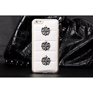 QJM Leather Style Design Gram Luo Heart PC Pattern Hard Case for iPhone 6