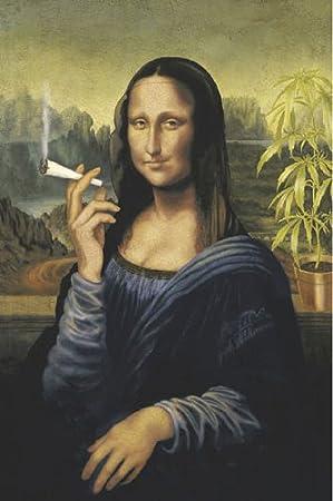 Super Mona Lisa La Joconde Joint -Grande affiche PAPIER- poster  XJ14