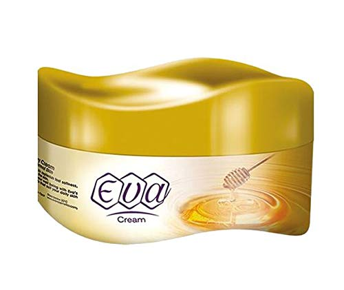 Eva Skin Care Cream Face Moisturizers Hands Feet Elbow Body Softening with Glycerin, Honey, Yogurt and Cucumber & Milk Keeping Your Skin Healthy Smoothy 170 g (With Honey)