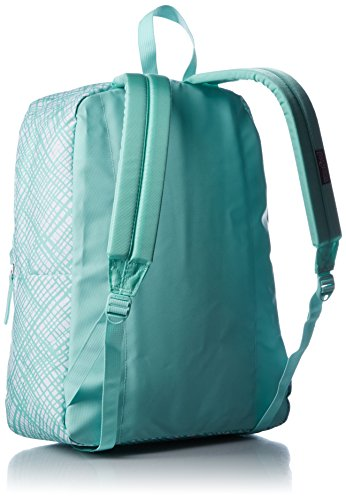 JanSport Womens Classic Mainstream Superbreak Backpack - Aqua Dash Jagged Plaid / 16.7'' H X 13'' W X 8.5'' D by JanSport (Image #2)