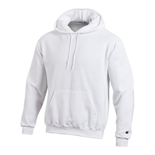 Champion Double Dry Action Fleece Pullover Hood, White, L